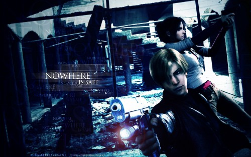 Capcom, Resident Evil 1, Leon S. Kennedy, Claire Redfield Wallpaper
