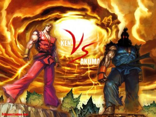 Capcom, Street Fighter, Ken Masters, Akuma (Street Fighter) Wallpaper