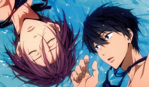 Kyoto Animation, Free!, Haruka Nanase (Free!), Rin Matsuoka, Postcard