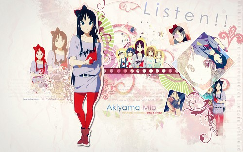 Kakifly, Kyoto Animation, K-On!, Mio Akiyama, Yui Hirasawa Wallpaper