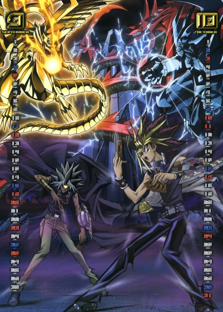 Kazuki Takahashi, Studio Gallop, Yu-Gi-Oh Duel Monsters, Yu-Gi-Oh 2004 Calendar, Winged Dragon of Ra