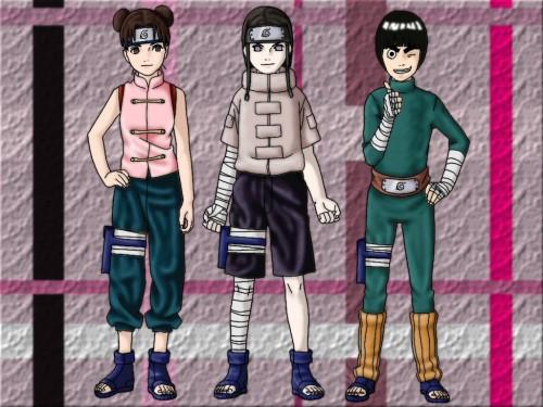 Masashi Kishimoto, Studio Pierrot, Naruto, Neji Hyuuga, Tenten Wallpaper