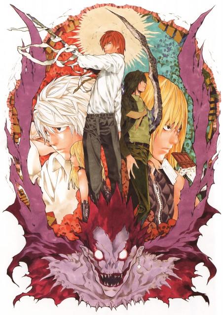 Takeshi Obata, Death Note, Blanc et Noir, Misa Amane, Mello
