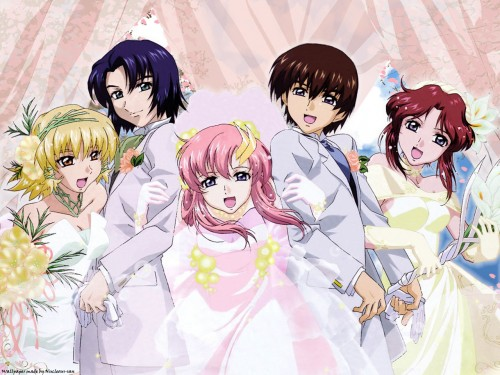 Sunrise (Studio), Mobile Suit Gundam SEED, Lacus Clyne, Fllay Allster, Athrun Zala Wallpaper