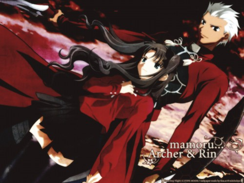 TYPE-MOON, Fate/stay night, Rin Tohsaka, Archer (Fate/stay night) Wallpaper