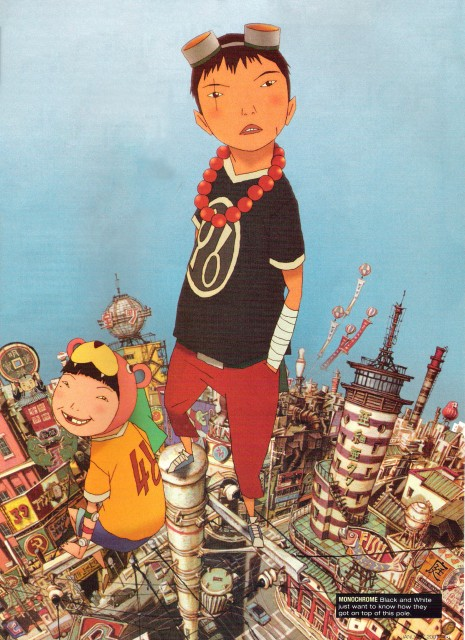 Taiyou Matsumoto, Tekkon Kinkreet, Shiro (Tekkon Kinkreet), Kuro (Tekkon Kinkreet)