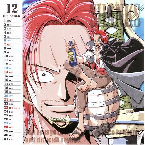 Eiichiro Oda, Toei Animation, One Piece, Shanks, Calendar