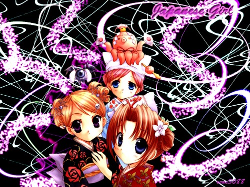 Aoi Nanase, Puchimon, Melty Bagel, Chamomile Jasmine, Maris Mischa Wallpaper