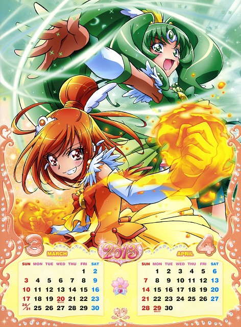 Toei Animation, Smile Precure!, Cure Sunny, Cure March, Calendar